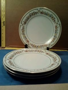 LiLing Fine China Jung Shen Chippendale Set of 4  Dinner Plates FREE SHIPPING #LiLingFineChina