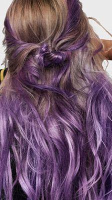 coloration semi-permanente l'oréal purple hair PE 2017