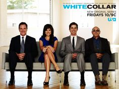 """White Collar"" (2009 - Present) - Peter, Elizabeth, Neal and Mozzie"