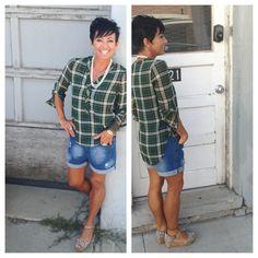 Perfect plaid $34 pearls $22 & boyfriend shorts $30~ @karmaboutiqueonmain #karmaboutiqueonmain #pleasantgrovecity #utah #utahfashions #utahboutiques #shopsmall #shoplocal #weship #goodkarma #callme 8017961121