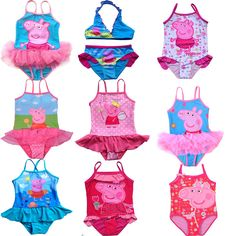 0a777c9811 Retail Free shipping NEW Girls Baby Kids Peppa Pig Swimsuit Swimming Costume  Tankini Swimwear 1-8Y Swimming Toddler One-Piece US  9.39 - 9.99