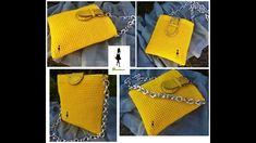 """Ako uháčkovať háčkovanú kabelku """"STELA"""" - Ľahké háčkovanie so značkou 👜 EModaShop.eu Crochet Bikini, Bikinis, Swimwear, Tote Bag, Bags, Fashion, Bathing Suits, Purses, Fashion Styles"""