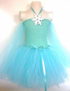 Frozen inspired Queen Elsa Tutu Dress, Birthday party dress, Princess Dress, Dress up. ,Costume