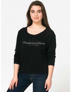 Black slouchy Bud Girls Shirt Convention 2015