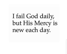 His mercies are new... EVERY SINGLE DAY... ♥️✝️