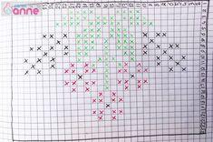 Kır Çiçekleri Tunus İşi Patik Modeli Yapımı - Canım Anne Tunisian Crochet, Crochet Slippers, Crochet Patterns, Notebook, Bullet Journal, Stitch, Anne, Crafts, Design