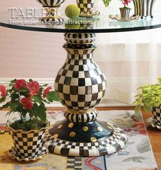 My favorite Courtly check table by MacKenzie Childs