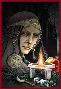 The Greek Goddess Hecate represents the third aspect of the Goddess, the Crone. She is known as the goddess of witches, of magic, the dark of the moon, and the depths of the underworld. Of all the Goddesses, only Hecate could grant or refuse anything asked by mortals. She is the voice of wisdom, divination & dreams.
