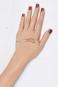 Cold Blooded Gold-Plated Palm Cuff. No. Stop Pinterest, palm cuffs aren't a thing.