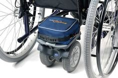 The TGA Powerpack provides an electrically powered method to propel a manual attendant controlled wheelchair and occupant.