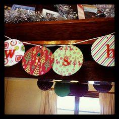 DIY CD Christmas Banner