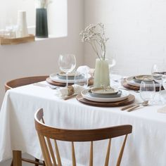 Image 1 of the product White Washed Cotton Napkin and Tablecloth