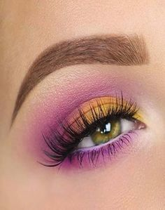 5 tips on how to become a beauty entrepreneur NYX Ultimate Eyeshadow Palette Yellow Makeup, Purple Eye Makeup, Makeup Eye Looks, Eye Makeup Steps, Eye Makeup Art, Colorful Eye Makeup, Smokey Eye Makeup, Makeup Inspo, Eyeshadow Makeup