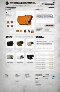 #Website / Crumpler by Rene Bieder, via #Behance