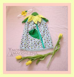 Dresses – Dress children / baby Cheerful Tulip + headband  – a unique product by Monika_Magdalena on DaWanda
