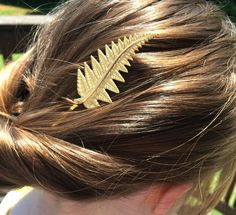 Gold Fern Hair Pin