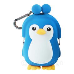 "Our very cute Blue Penguin Coin Purse is a fun and stylish accessory from the makers of the original Pochi coin purse in Japan. This penguin is about 4 1/2"" tall and is made from soft suade-like silli"