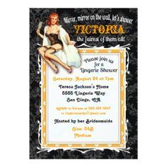 Pin Acima do convite de festas do Chá de panela da Convite 12,7 x 17,78 centímetros