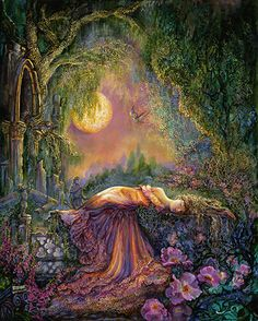 One Hundred Years - Josephine Wall Josephine Wall, One Hundred Years, Fantasy Paintings, Fantasy Artwork, Visionary Art, Fantasy Landscape, Fairy Art, Fantastic Art, Pictures To Paint