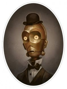 Victorian Star Wars Portraits: 3CPO