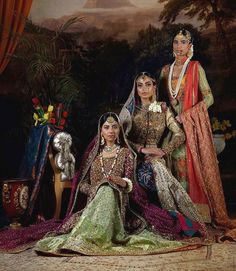 @wardhasaleemofficial's Bridal Collection is reminiscent of a classic era with a penchant for color, tradition and craftsmanship. A heritage, a legacy, a garment for the ages, the bridal dresses stand true to the history of the royals.  Designer: #WardhaSaleem  Hair & makeup: #SabsTheSalon Photography: #TapuJaveri  Jewellery: #Sherezad  Models: #SunitaMarshall #FouziaAman#SabaSikandar — Inbox them or whatsapp +92300 2246911 for an appointment