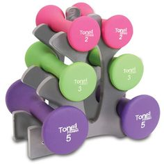 d8b0e818b4aa Tone Fitness Hourglass Shaped Dumbbell Set - Works as designed and well  built.This Tone Fitness that is ranked in the list of the top-selling  products