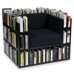 Quirky and decorative bookshelves. I want each one and enough books to fill them all.