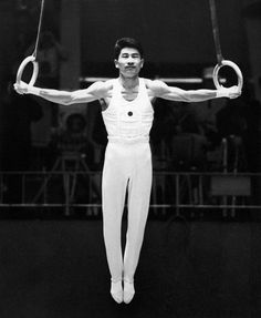 Shuji Tsurumi With Rings At The Olympic Games Of Tokyo 1964 JAPAN - APRIL 18: The Japanese Shuji Tsurimi With Rings At The Olympic Games Of Tokyo On October 19, 1964. (Photo by Keystone-France/Gamma-Keystone via Getty Images)