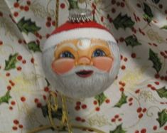 Angel Ornament with blond hair. Handpainted by GrannyKstreasures