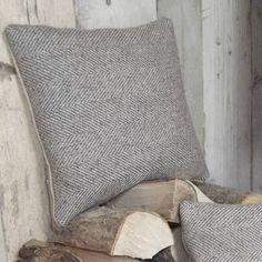 natural herringbone tweed and linen cushion by rustic country crafts Living Room Cushions, Grey Cushions, Scatter Cushions, Throw Pillows, Cheap Quilts, Contemporary Living Room Furniture, Country Crafts, Country Decor, Beautiful Living Rooms