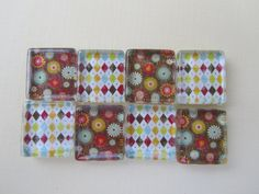 Fridge Magnets Fun Brown and Red Mix Refrigerator by DLRjewelry, $14.00