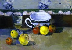 Cup, Glass and Fruit Paul Cézanne - circa 1877