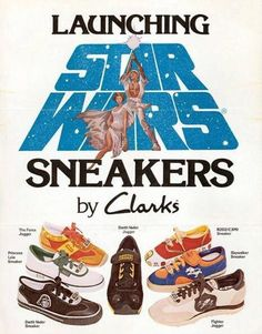Tread Lightly - Clark's Shoes Adverts – Voices of East Anglia Retro Advertising, Vintage Advertisements, Vintage Ads, Star Wars Toys, Star Wars Art, Sneaker Posters, 70s Sci Fi Art, Retro Pop, Star Wars Collection