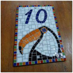 """Mosaicos J&R: Número em mosaico - Tucano """"10"""""""