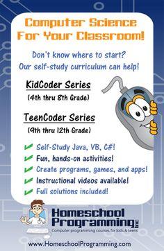 Homeschool Computer Programming Great for HS elective credits Computer Class, Computer Science, Kids Computer, Programming For Kids, Computer Programming, Hate School, Back To School, Coding For Kids, Hands On Activities