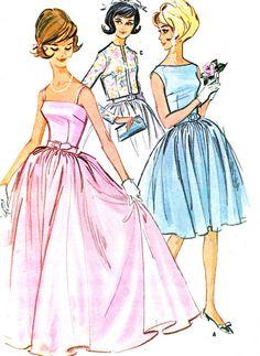 1960s Dress Pattern McCalls 6578 Day Evening door paneenjerez