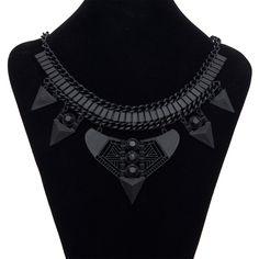 Find me mode pernyataan kalung liontin colar wanita gypsy etnis bohemian maxi vintage choker kalung kerah perhiasan