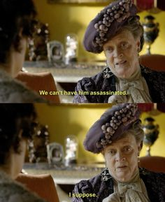 Dame Maggie Smith at her best!