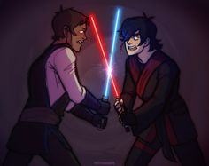 """Keith, snap out of it!"" - ""Shut up!"" - by bettiquarts - Lance and Keith Star Wars AU"