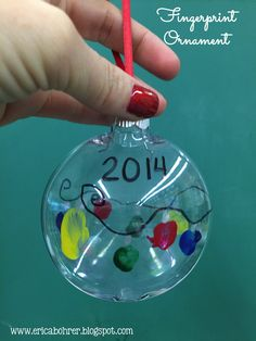 Finger print plastic ornament