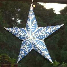 Origami n' Stuff 4 Kids: Winter Star Snowflake Ornament