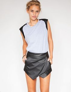 Wrapped Leather Skirt - Saw this also in Nastygal. Reckon might be a thing this season. A potential candidate.. issue is however it's got too much character on its own already, so could look bit too complicated. Also, a leather mini or leather skater could easily do the same job already.