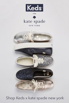 The life of every party, and outfit. Whether you want to dress up your denim or give an unexpected twist to a more formal look, our kate spade new york holiday collection is your answer to every invite this holiday season. Choose from glitter, metallic, leather, and more at keds.com.