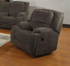 image of Pulaski Caesar Glider Recliner in Nimbus Seal Sectional Sofa With Recliner, Glider Recliner, Recliners, Club Chairs, Table And Chairs, Dining Set For Sale, Wood Steel, Grey Wood, Gliders