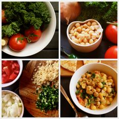Easy Coconut Kale Chickpea Curry - use olive or grapeseed oil in this healthy, uncomplicated meal (makes 8 servings).
