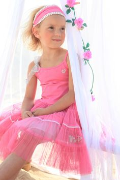 The cover girl in Mim-pi pink #cute #mimpi #dress #kids #girls #clothes #fashion #pink