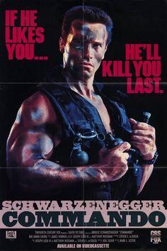 Commando (1985) 80s Movies, Great Movies, Movie Stars, Movie Tv, Indie Movies, Comedy Movies, Action Movie Poster, Action Film, Action Movies