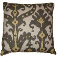 #04 Marrakesh Graphite w/ Raw Edge Pillow