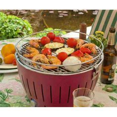 This nifty little BBQ weighs less than 4kg and is ideal for up to five people. It offers smoke free cooking thanks to its unique inbuilt fan and has dishwasher safe components