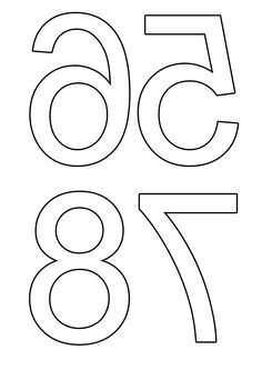 Printable back-to-front numbers for DIY Montessori sandpaper letters